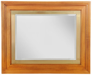 Large Framed Beveled Glass Mirror