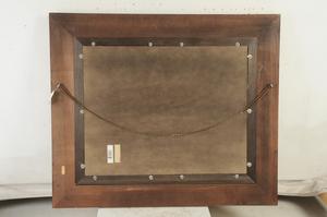 Large Framed Beveled Glass Mirror