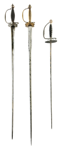 Three Antique Rapiers