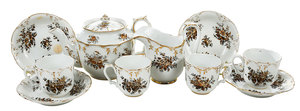 Russian Popov Factory Porcelain Tea Set