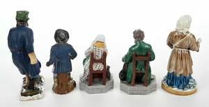 Five Russian Porcelain Figures