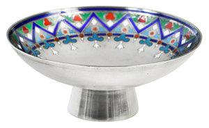 Khlebnikov Russian Silver Enamel Compote