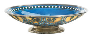 Russian Gilt Silver Champlevé Footed Bowl