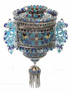 Russian Silver Plique-à-jour Lampada