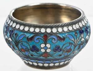 Khlebnikov Russian Gilt Silver Cloisonné Bowl