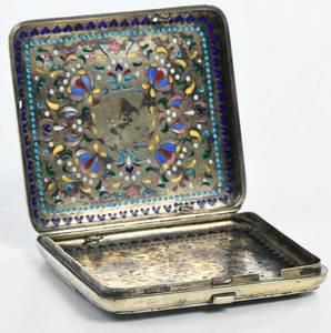Russian Silver Plique-à-Jour Case