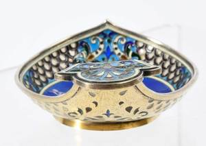 Russian Silver Kovsh, Attributed to Fabergé