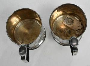Two Russian Silver Cup Holders