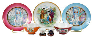 Seven Pieces Russian Porcelain