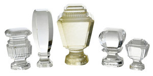 Five Russian Glass And Rock Crystal Seals