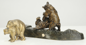 Two Russian Bear Desk Pieces