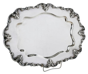 Whiting Sterling Oval Tray