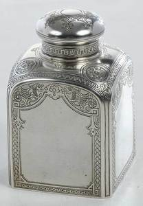Ovchinnikov Russian Silver Tea Box