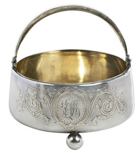 Russian Silver Basket