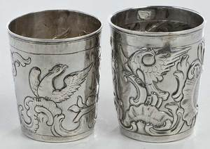 Two 18th century Russian Silver Cups