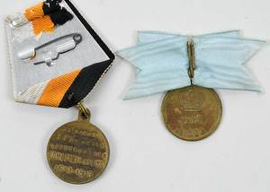 Nine Russian Associated Medals and Coins
