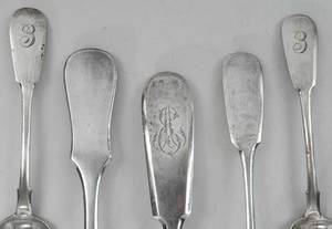 14 Pieces Russian Silver Flatware