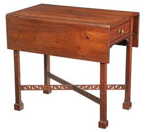 American Chippendale Walnut Pembroke Table