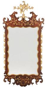 George II Parcel-Gilt Mahogany Mirror