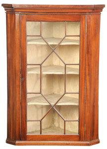 Chippendale Mahogany Hanging Corner Cupboard
