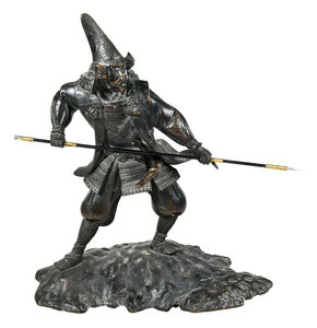 Japanese Bronze Samurai