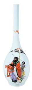 Chinese Finely Enameled Porcelain Bottle Vase