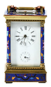Champlevé Carriage Clock