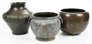 Three Asian Bronze Vessels