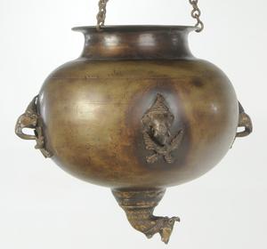 Asian Bronze Hanging Urn