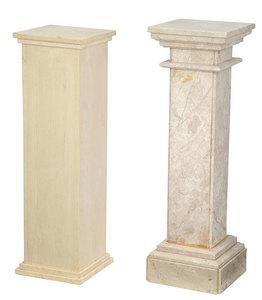 Two Stone Column Form Pedestals