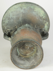 Chinese Patinated Bronze Figural Vase