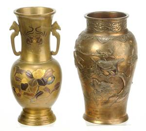 Two Asian Bronze Vases