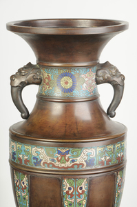 Large Chinese Champlevé Floor Vase