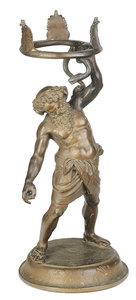 Roman Style Bronze Figural Stand