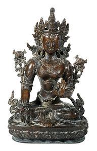 Tibetan Bronze Seated Figure of Tara