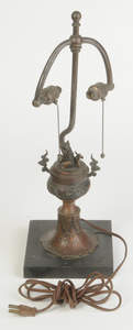 Three Table Lamps, Chinese Bronze