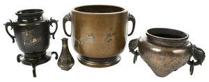 Four Asian Bronze Vessels