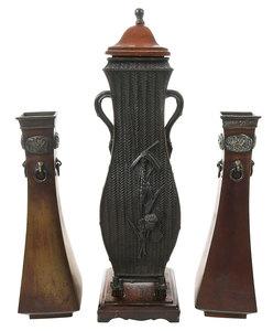 Three Asian Bronze Vases