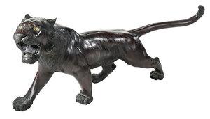 Japanese Bronze Tiger Statue
