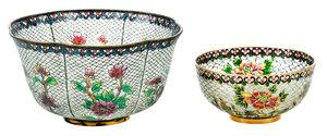Two Plique-à-Jour Small Bowls