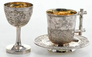 Chinese Export Silver Drinking Set, 23 pieces