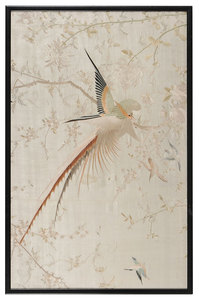 Japanese Silk Bird Embroidery