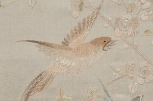 Japanese Silk Bird Embroidery