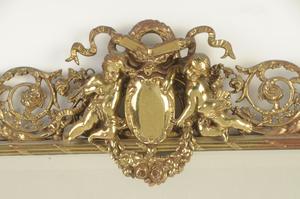 Renaissance Style Figural Brass Mirror