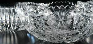 Cut Glass Bowls Tuthill, Maple City, Pairpoint