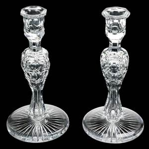 Pair Cut Glass Candlesticks by Pairpoint