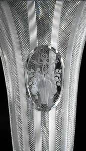 Cut Glass Hawkes Bowl, Two Vases