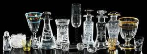 22 Cut Glass Table Articles, Hawkes, Lobmeyr