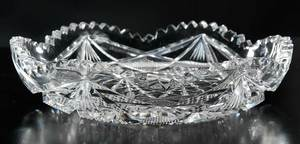 Four Cut Glass Table Items, Libbey, Fry