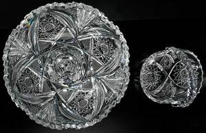 Four Cut Glass Table Items, Including Pairpoint